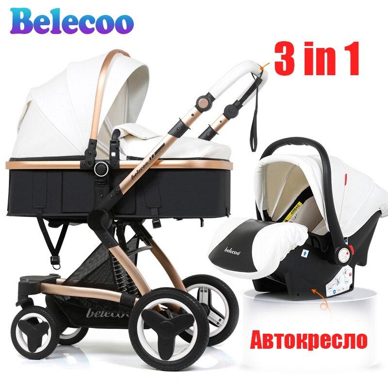 Belecoo poussette 3-en-1 Eco amortisseur en cuir livraison gratuite