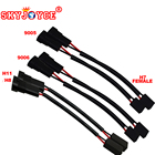 SKYJOYCE 1 pair female H7- male H11/9005/9006 plug power Male HB4 H11 H8 hb3 to H7 Female coonector socket relay wire adapter