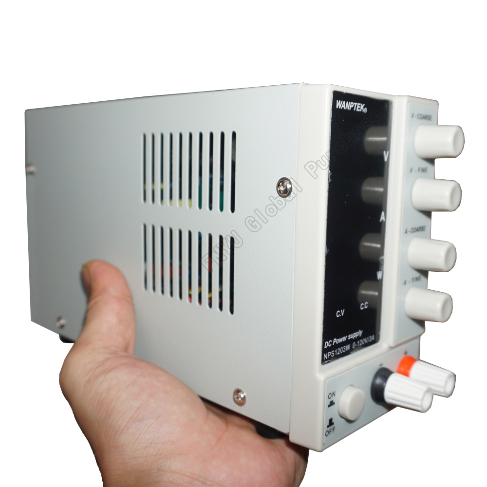 NPS1203W Mini DC regulated power supply Power 120V 3A Display Adjustable Digital Laboratory Test Supply