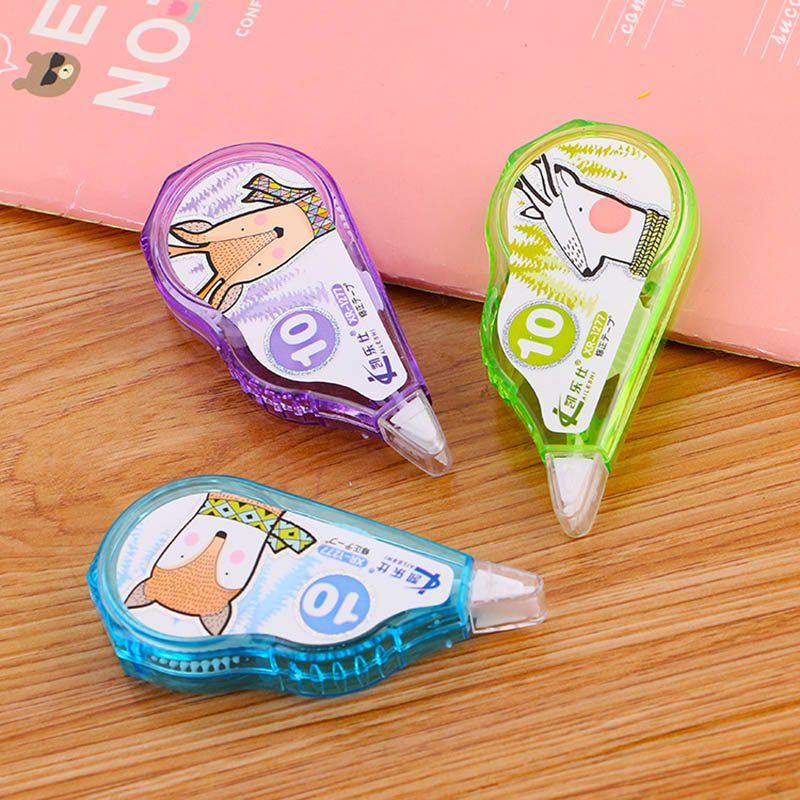 Cute Cartoon Fox Correction Tape Kawaii School Corrector Tape For Kids Painting Drawing Korean Stationery Office Supplies