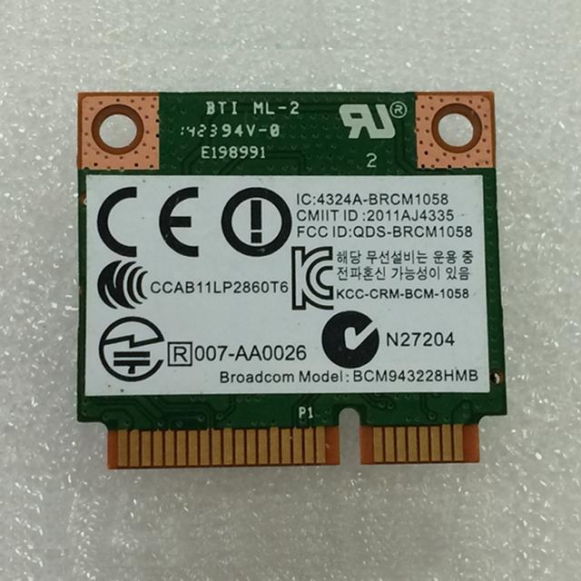 BCM943228HMB 802.11 abgn 2x2 Wi-Fi + BT 4.0 combinação Placa de adaptador Wi-fi Para ProBook 470 G0 Série PCNB, sps 731550-001