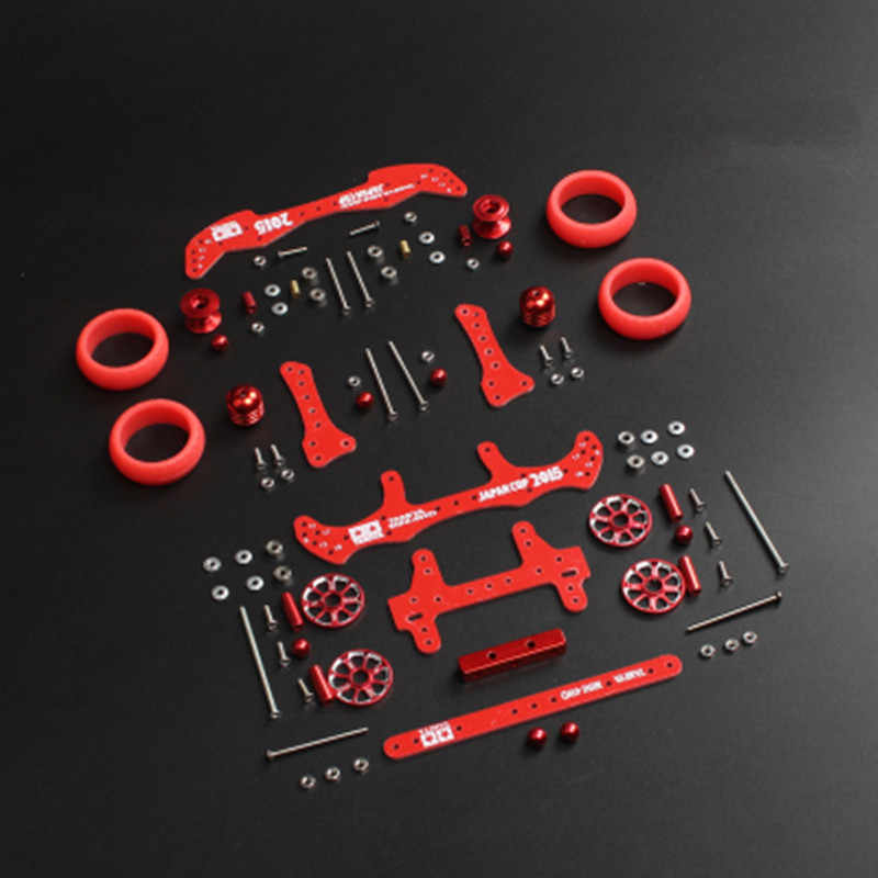 Бесплатная доставка 1 комплект MA/AR шасси модификация запчасти комплект с FRP Запчасти для Tamiya Mini 4WD Радиоуправляемая машина