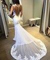 robe de mariage Mermaid Wedding Dresses 2017 With Lace Appliques Court Train Mesh Back Bridal Gowns Dress Vestido De Novia