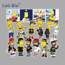 300Pcs Simpsons Stickers for DIY Decals Graffiti Laptop Guitar Luggage Suitcase Skateboard Motor Car Sticker Toys for Children(China)