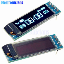 0.91 Inch 128x32 IIC I2C Blue OLED LCD Display DIY Module SSD1306 Driver IC DC 3.3V 5V For Arduino PIC Free Shipping