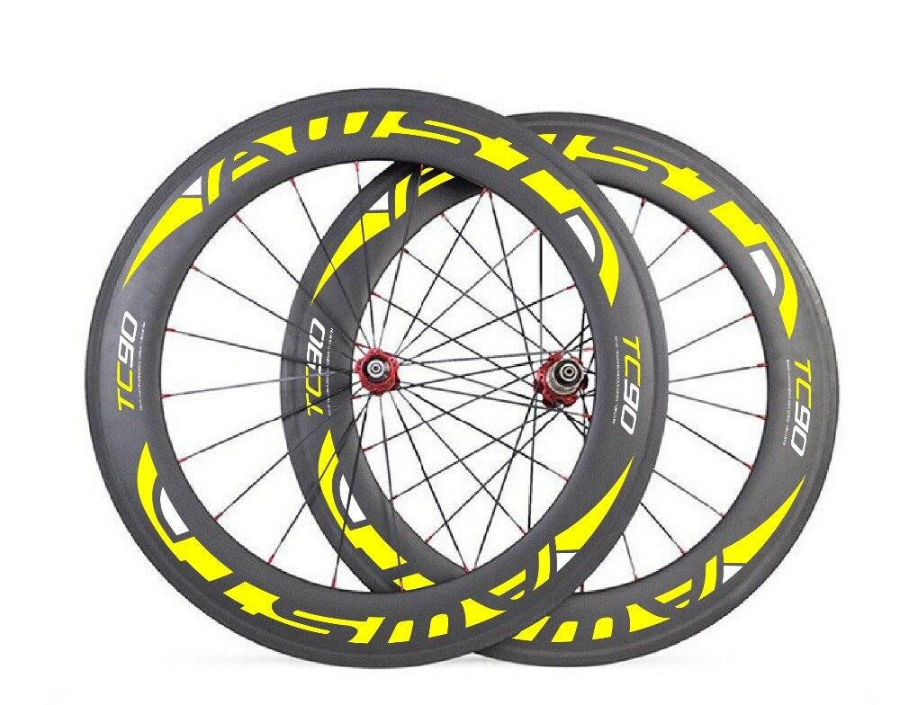 Basalt brake surface Wheels 700C 88mm Carbon Road Clincher Wheelset, Carbon Fiber TT wheels, Powerway R13 hub, Titanium QR
