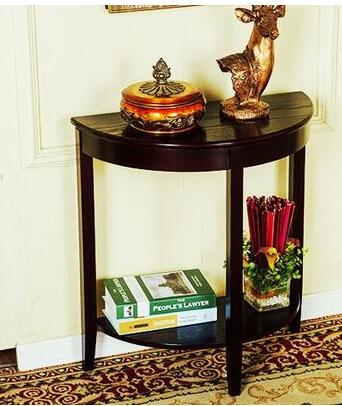 European and American style entrance table solid wood semicircular table modern minimalist entrance hallway entrance . lateness and modern european literature