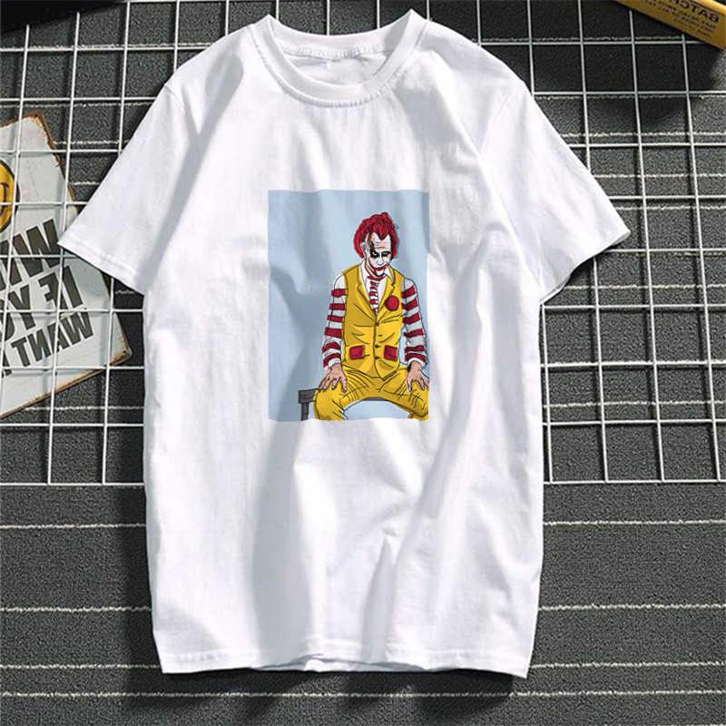 Harajuku Эстетическая Джокер Женская хлопчатобумажная рубашка 2019 забавная Футболка женская короткий рукав плюс размер белая футболка сексуальная Tumblr топ тройники