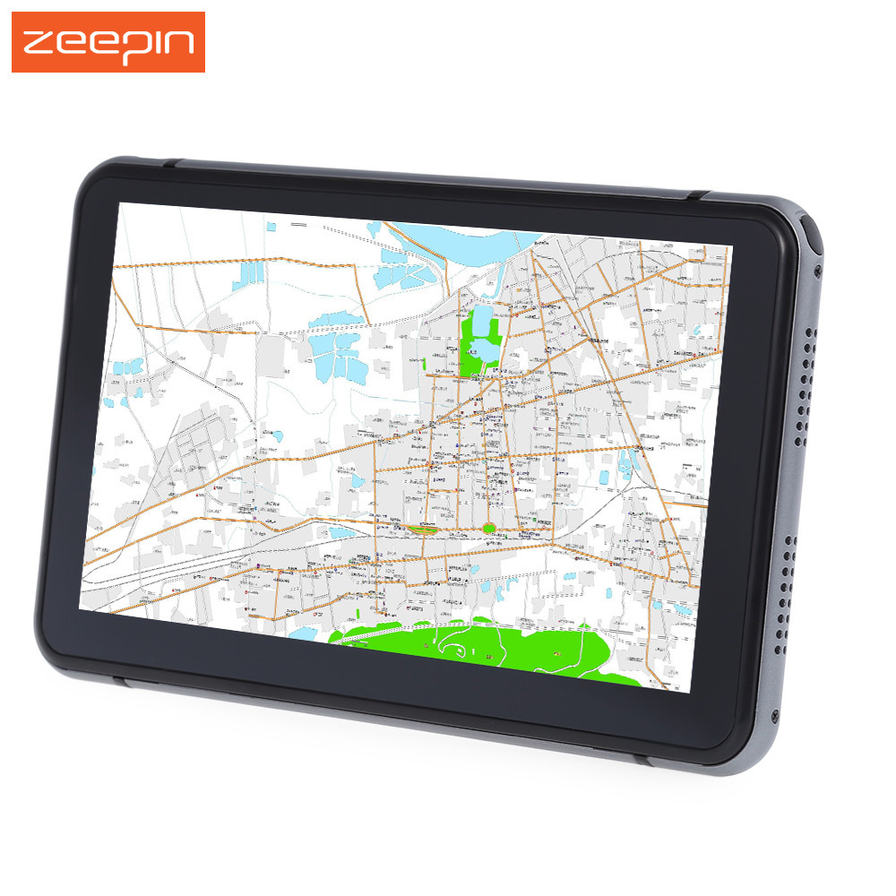 7 inch Touch Screen Car GPS Navigation Player Windows CE 6.0 Truck Vehicle GPS Navigator pre-loaded map 800x480 Resolution Hi-Fi