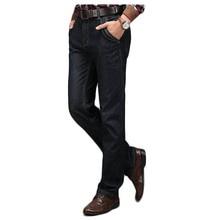 Freies verschiffen Herbst und winter größe männer plus samt jeans Business männer denim-hosen Gewaschen jeans 69yw
