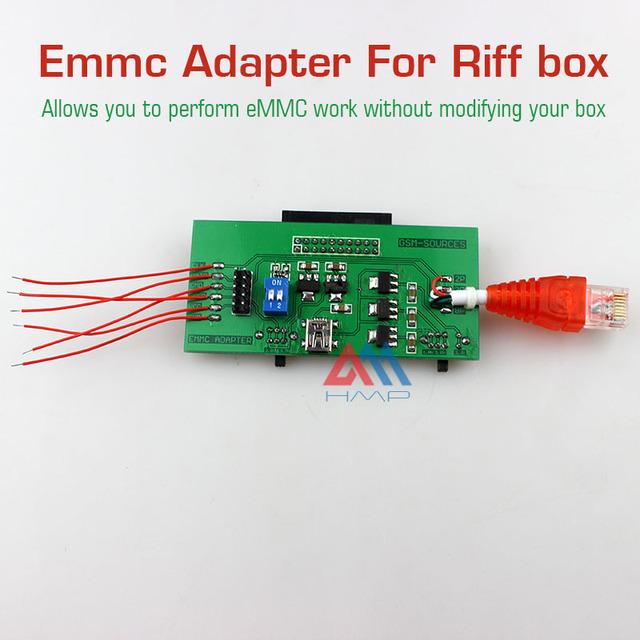 2016 novo Realizar trabalho sem modificar sua caixa EMMC eMMC Adaptador para ferramentas de reparação de software CAIXA Riff jtag