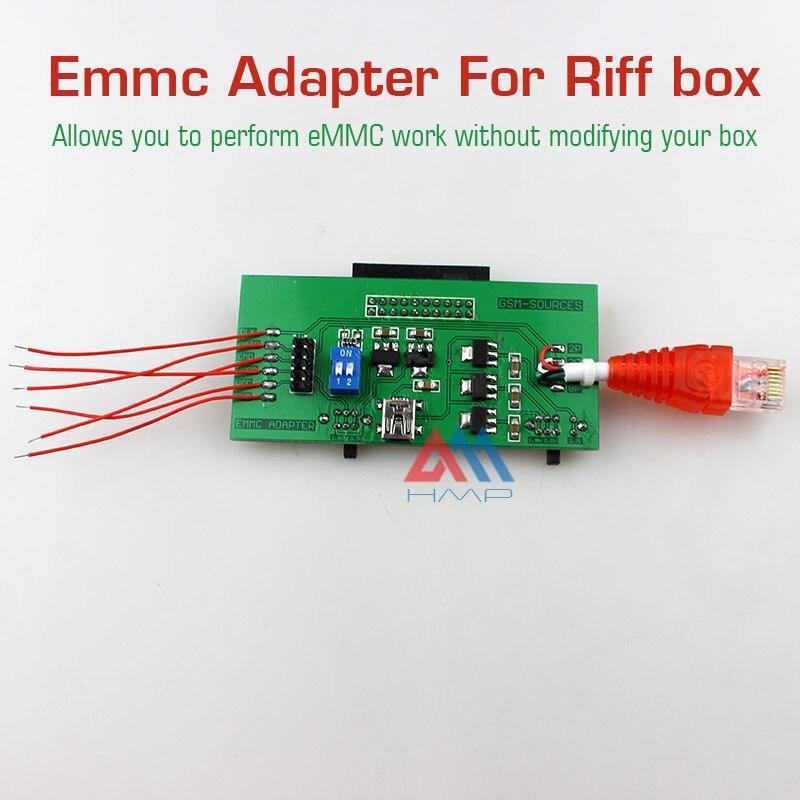 imágenes para 2016 nuevos Realizan eMMC trabajo sin modificar su caja Adaptador de MÁSTER ERASMUS MUNDUS para Riff BOX jtag software de reparación de herramientas