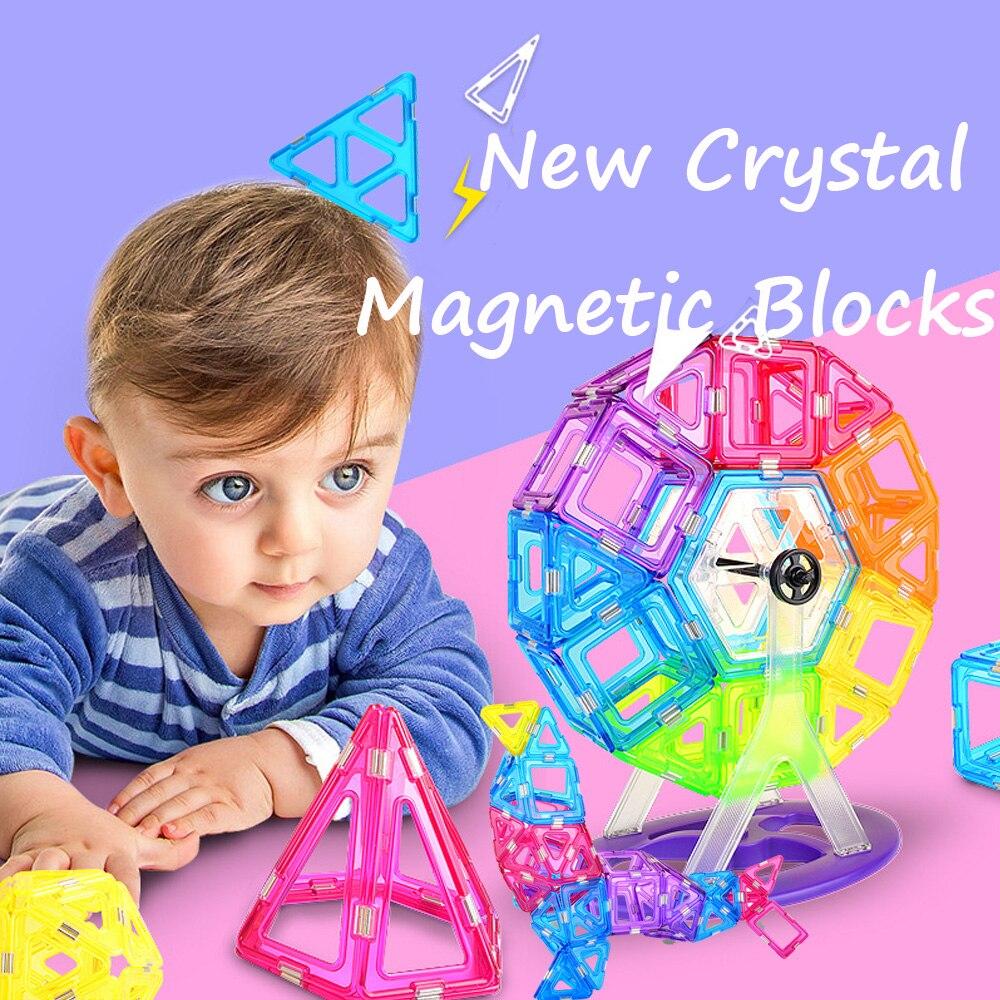 1 St Big Size Crystal Blokken Magnetische Designer Bouw Model & Building Toy Magnetische Blokken Educatief Speelgoed Voor Kids Gift
