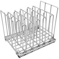 Estante de contenedores Sous Vide  separador de acero inoxidable cromado (5)  accesorios de cocina para baño de agua  accesorios de cocina  bolsas de plástico separadas para|Bastidores y soportes| |  -