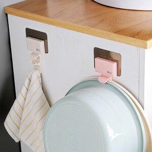 Image 3 - 1 P Creative Shape Strong Washbasin Rack Towel Hook Adhesive Multi Purpose Hooks Organizer Holder Plug Kitchen Bathroom Hooks