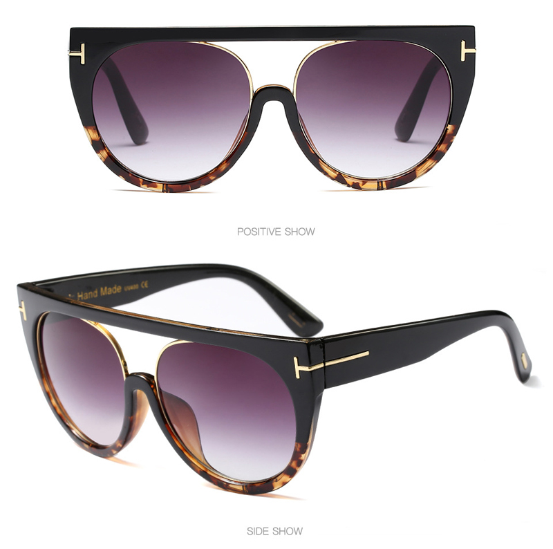 c533de320dc Pop Age 2018 New High Quality Oversized Cat Eye Sunglasses Women Men ...