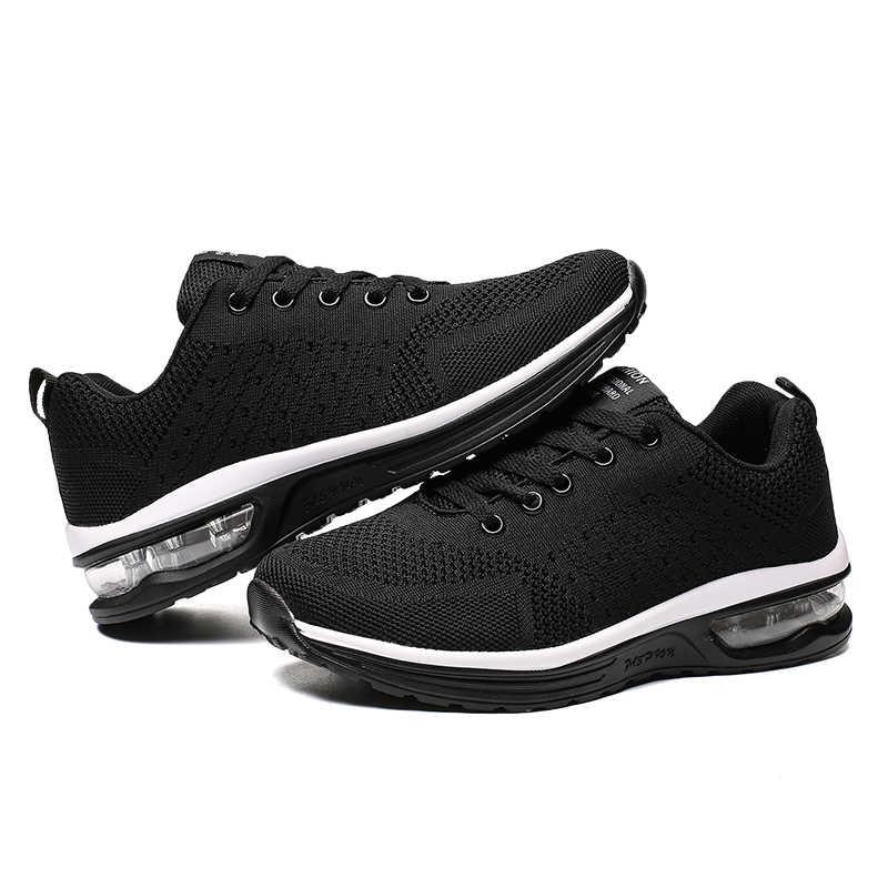 Nanjiren erkek ayakkabısı Örgü Erkekler/Kadınlar Çift Lac-up Hafif Rahat Nefes Yürüyüş Spor Ayakkabı Tenis Feminino Zapatos