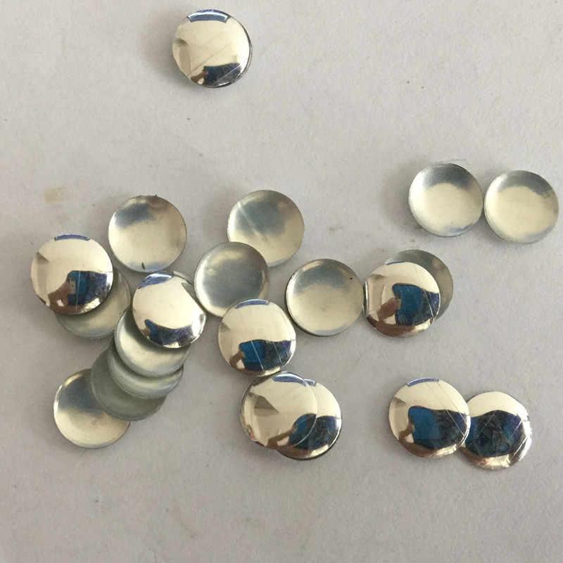 50pcs 7mm Round Silver Flat Back Studs Hotfix Iron On Glue FlatBack DIY Rhinestuds Hot fix Nailheads Rhinestones Accessories