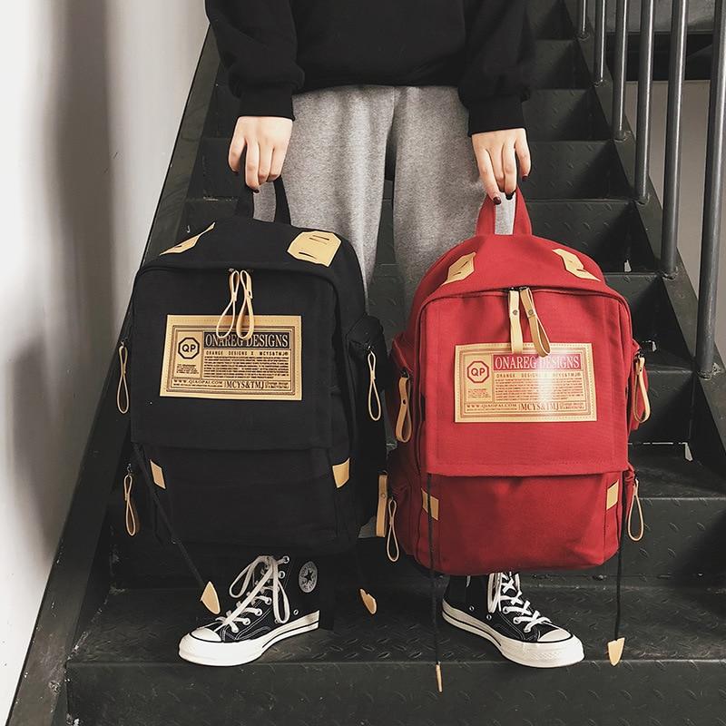 School Backpacks for Teenage Girls Boys Student Bag Mochila Feminina Women Backpack Canvas Travel Laptop Bagpack Sac A Dos