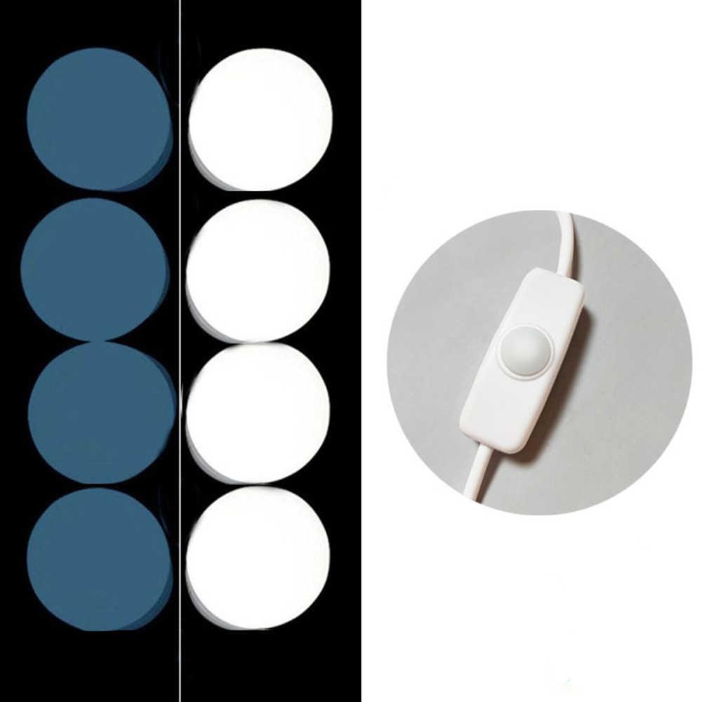 USB светодиодный подсветка косметического зеркала комплект Плавная регулировкая яркости лампа для макияжа гирлянда для макияжа зеркало тщеславие
