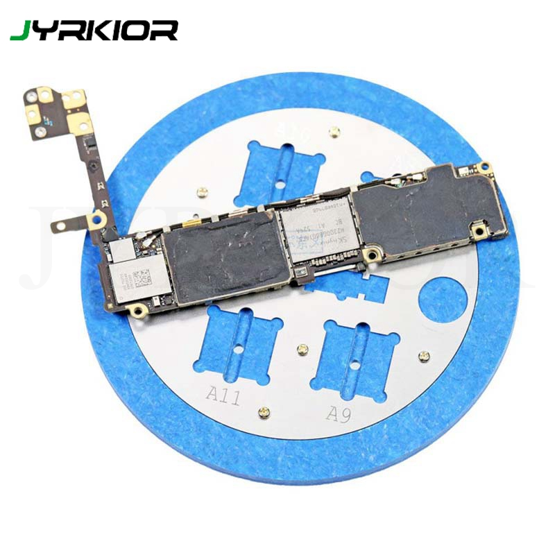 Microscopes Remove Rubber Base Positioning Slot Base Repair Fixture Fingerprint Touch ID Repair Station For iPhone A8 A9 A10 A11 title=