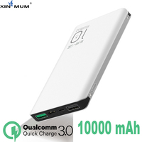XIN MUM Portable Charger QC3.0 Ultra thin DUAL Usb Quick Charger External Power Bank Battery for Mobile Phones Fast Charge