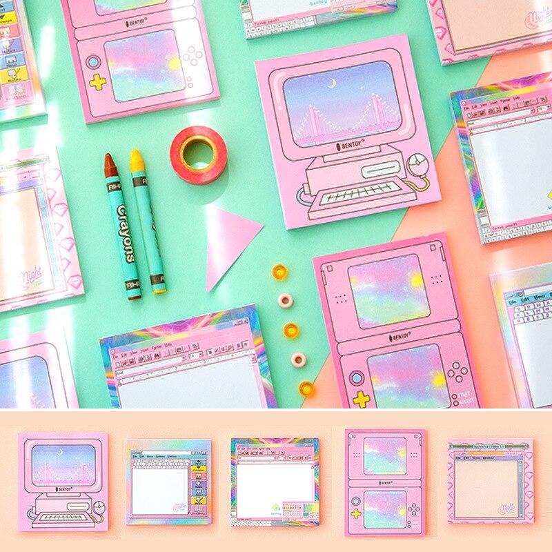 12 sets/1 lot Creative Harajuku girls heart wind Memo Pad Sticky Notes Escolar Papelaria School Supply Bookmark Post it Label