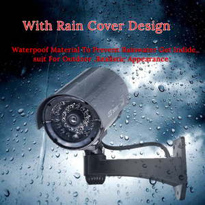 Image 3 - Fake Dummy CCTV Camera Bullet Waterproof Outdoor Indoor Security Surveillance Camera Solar With Led Light Free Shipping