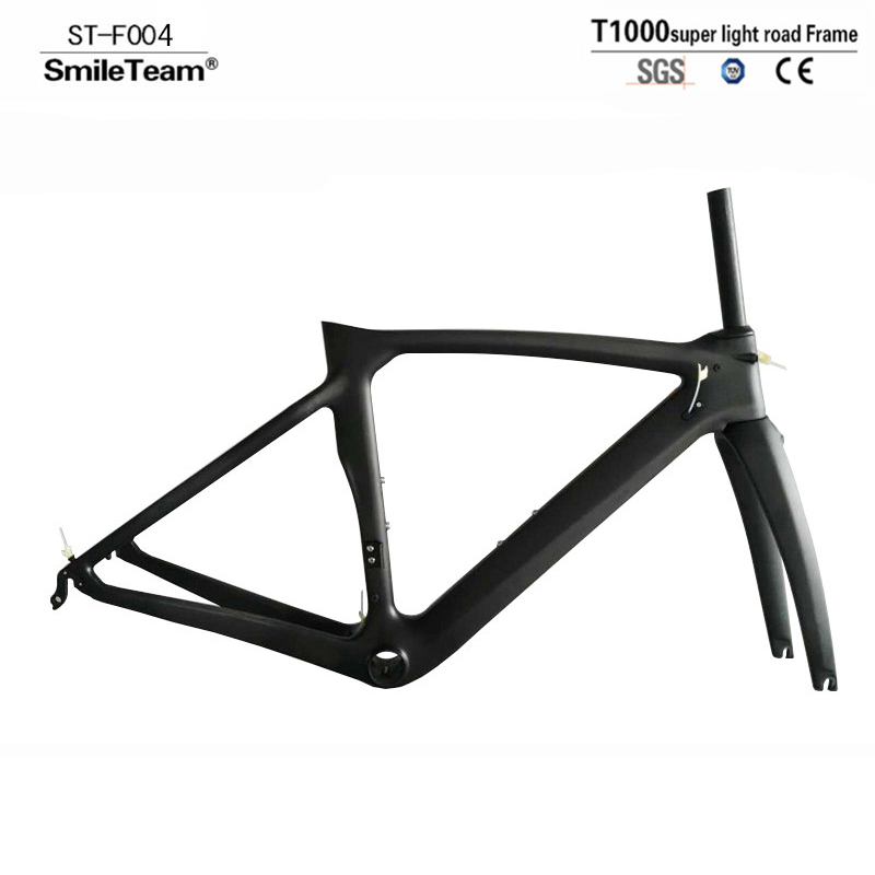SmileTeam 2018 New XR4 Bicycle Frame T1000 Carbon Road Bike Frame Ultralight Carbon Racing Bicycle Frameset With Fork Seatpost smileteam new 27 5er 650b full carbon suspension frame 27 5er carbon frame 650b mtb frame ud carbon bicycle frame