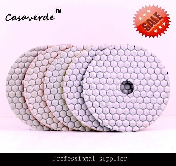 DC-AWHPP03 5 pouces 125mm diamant tampons de polissage à sec granit diamant tampons de polissage à sec, tampons de polissage à sec 5