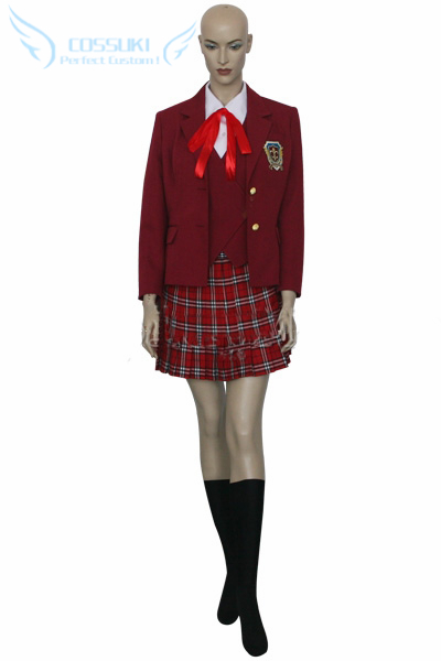 Newest High Quality Negima Magister Negi Magi Asuna Kagurazaka Uniform Cosplay Costume Perfect Custom For You