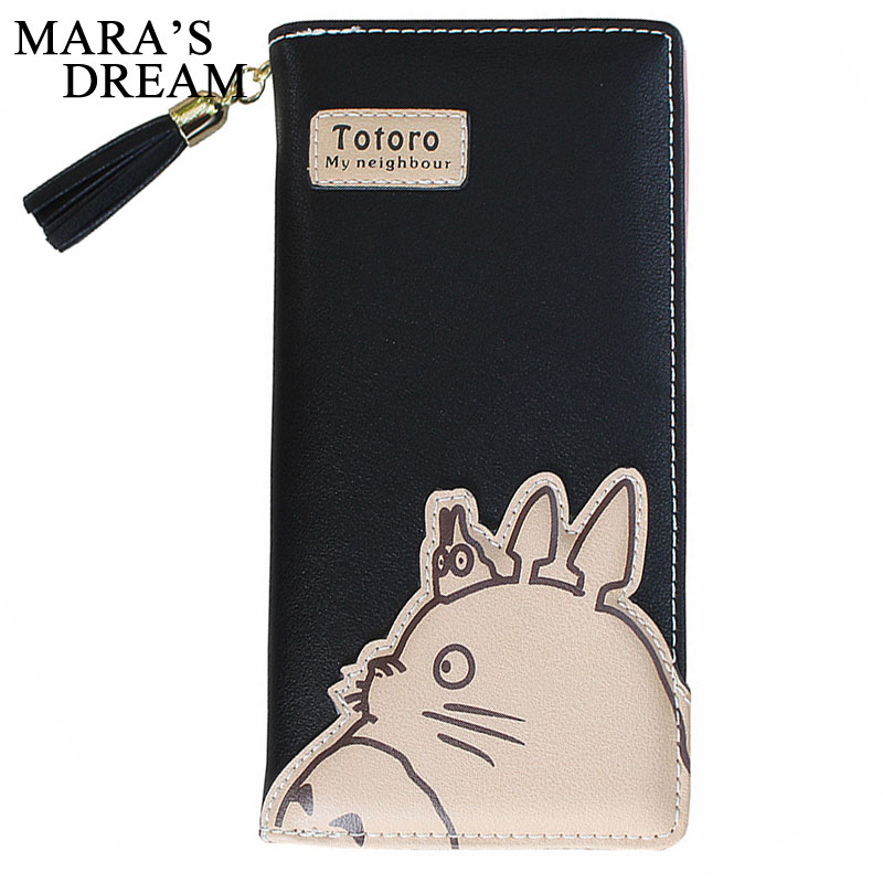 Mara's Dream 2018 Women Wallets Fashion My Neighbor Totoro Cartoon Card Holder Coin Purse Zipper & Hasp Clutch Long Wallet Bags simline fashion genuine leather real cowhide women lady short slim wallet wallets purse card holder zipper coin pocket ladies