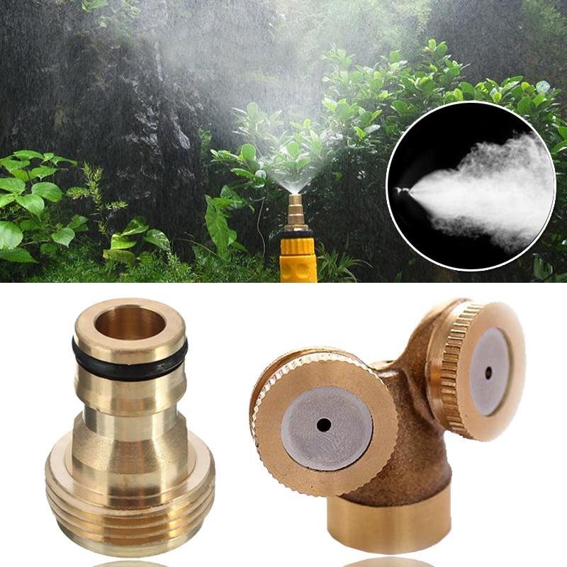 2 Nozzles 1 Nozzle Garden Watering Spray Nozzle Brass