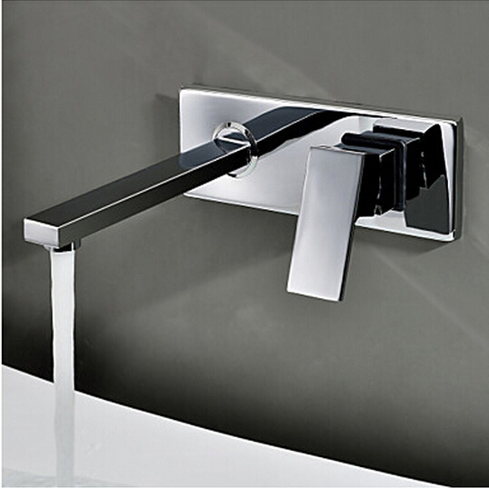 ФОТО BECOLA Free shipping Into the wall washbasin water tap Three piece set flush faucet Bathroom cabinet basin mixer BR-320