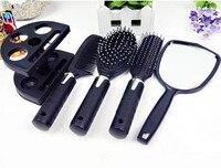 4 pcs Boucles cheveux peigne + Miroir ensemble Antistatique Massage curling combs démêlant cheveux brosse à cheveux peigne styling outils Livraison gratuite