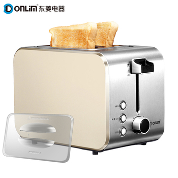 Donlim toaster Stainless steel bread maker Household automatic 2 Slices bread machine Тостер