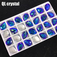 QL Crystal 13x18mm ALL COLOR  Teardrop Pointback Rhinestone High Quality for Jewelry Making DIY Accessories