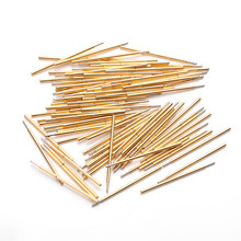 P058-J Voltage Test Probe Spring Phosphor Copper Tube Gold-Plated Electrical Instrument Tool For Testing Circuit Board Instrumen p048 j 100 pcs pack spring test probe phosphor bronze tube gold plated electrical instrument tool for testing circuit board
