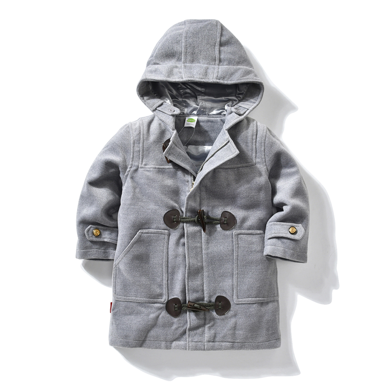 Baby Boy Wool Coat Children Autumn Winter Fashion Hooded Parka Outerwear Cotton Thick Kids Snowsuit Clothes Wool Coat For Boys цены онлайн