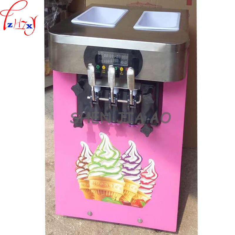 commercial soft ice cream machine sweet cone ice cream machine 18 /h  ice cream maker 1600W 110 / 220V 1PC lcd display for vodafone smart prime 6 vf895 895n vf 895 with touch screen black color new brand replacement parts free tool c13