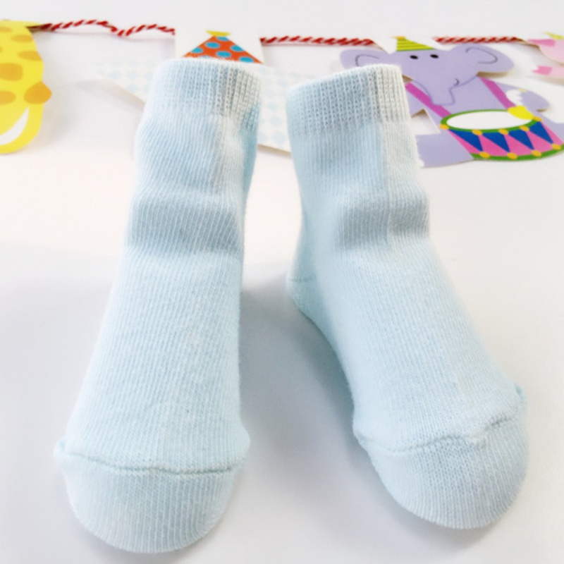 Newborn Baby Cotton Jacquard Weave Solid Color Socks Sports Style Socks for Infant Boys Christmas Gift 0-12 M M1
