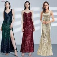 Gold Long Evening Dress Ever Pretty Back Cowl Neck EP07110GD Shine Sequin Sparkle Elegant Women 2017