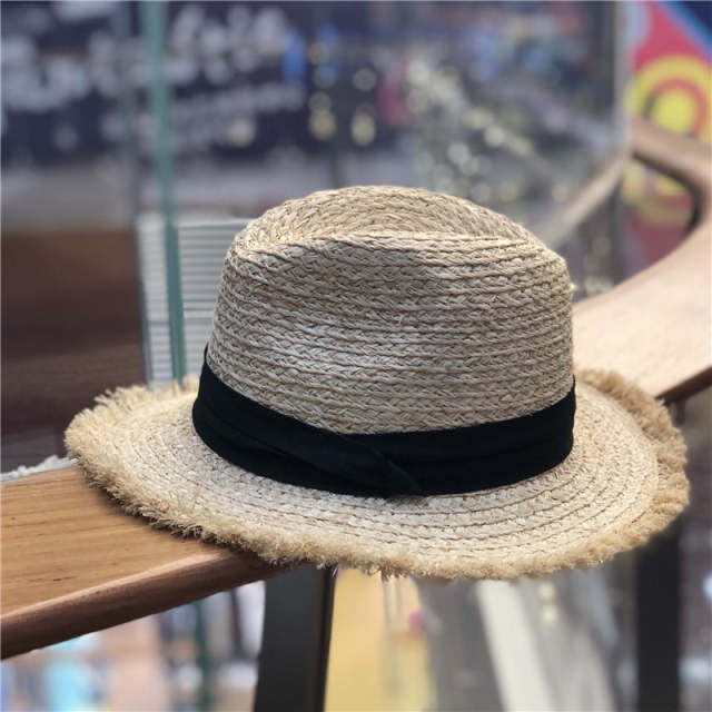 5c3b368ea3df US $10.12 15% OFF|Foldable Summer Straw Hat Wide Brim Fedora Sun Beach Hat  Men Casual Vacation Panama Straw Hat Women Wide Brim Beach Jazz Hats-in Sun  ...