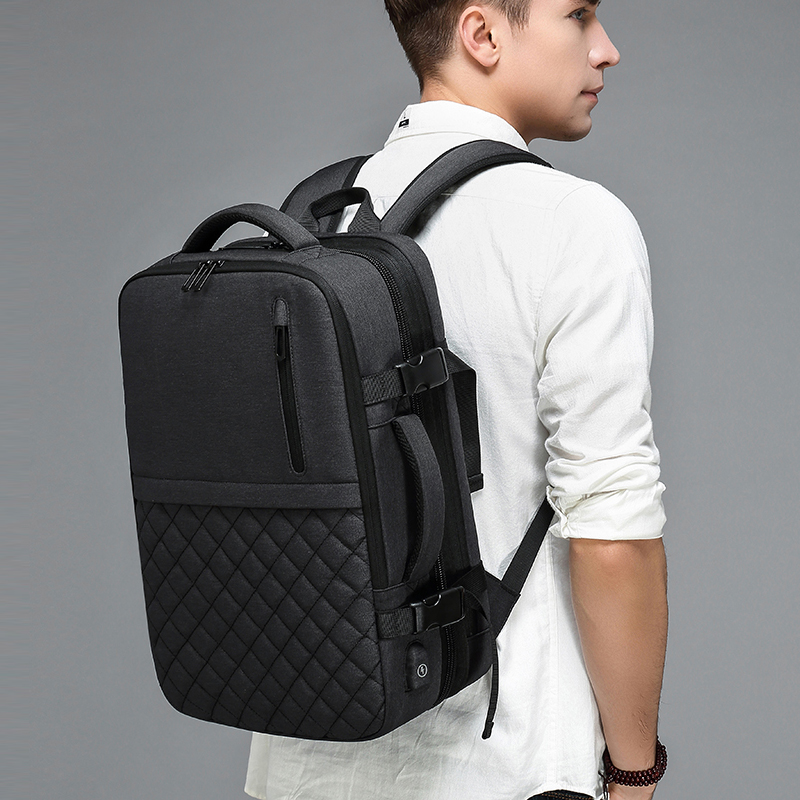 2019 NEW Travel Men's Backpack Multi-layer Space 15.6 Inch Laptop Bag USB Charging Port Multifunction Expandable Backpacks A1811