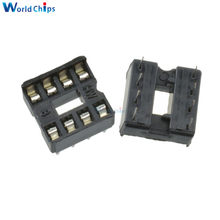 10PCS/Lot 8pin 8 Pin DIP-8 8DIP 8 DIP IC Sockets Adaptor Solder Type 2.54MM(China)