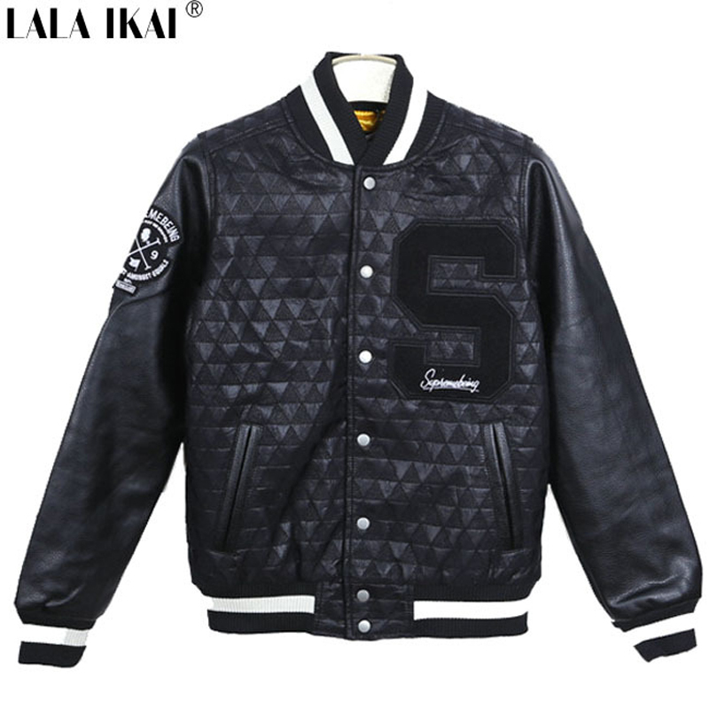 Baseball Leather Jacket - Coat Nj