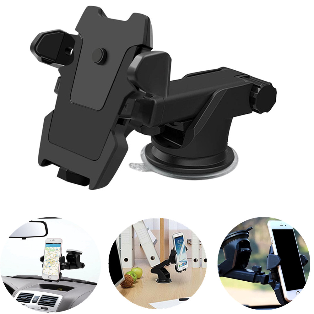 Universal Car Phone Holder Mount Stand 360 Rotate Adjustable Phone Holder for iPhone 7 6 6s plus For Samsung Xiaomi Redmi Huawei