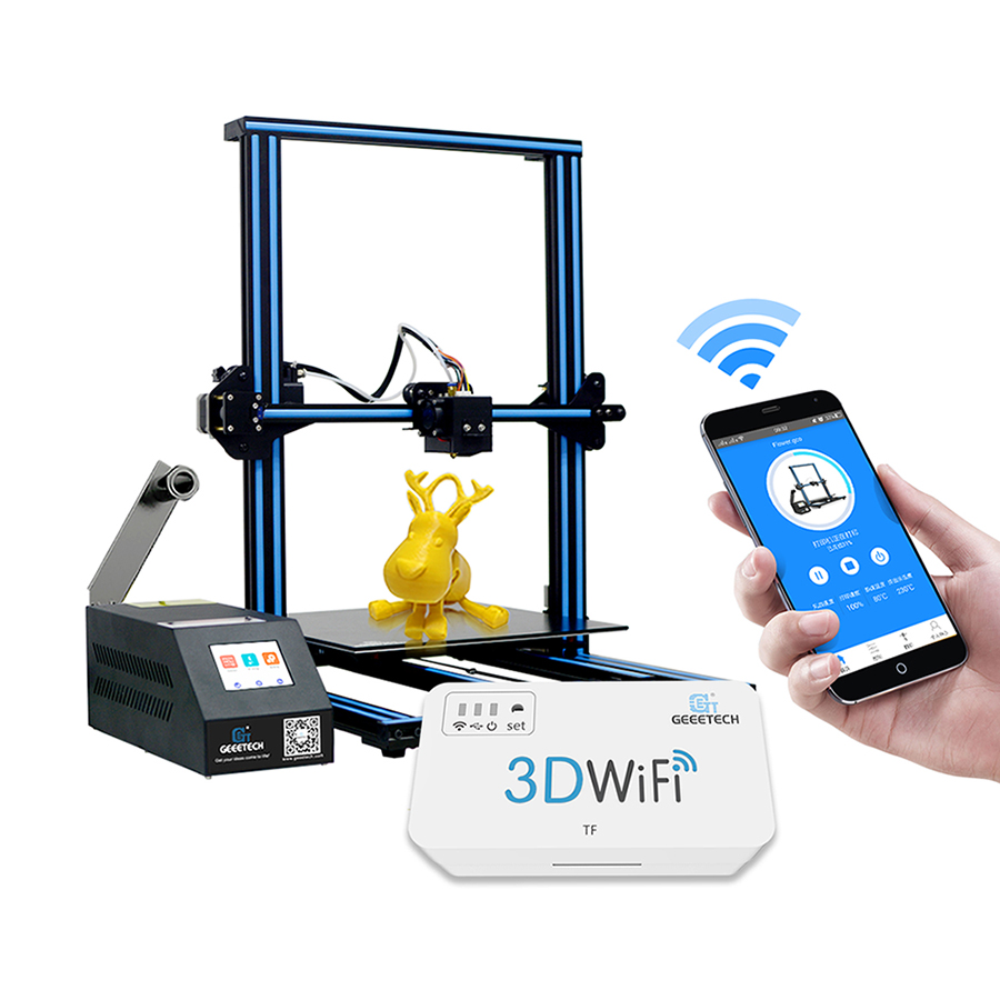GEEETECH Open Source FAI DA TE A30 3D Stampante Con Stampante di Grande Area Dello Schermo di Tocco Variopinto Break-ripresa 3D Stampante