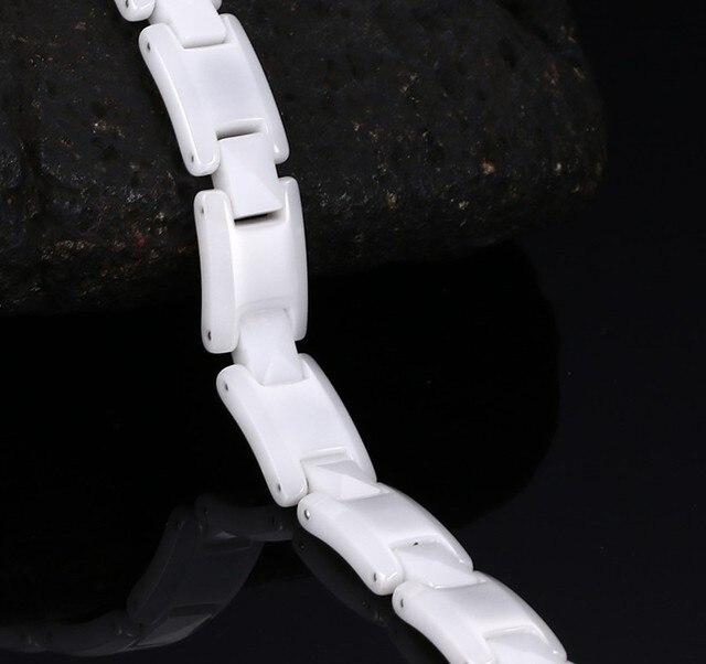 Высококачественные белые керамические браслеты для женщин черные