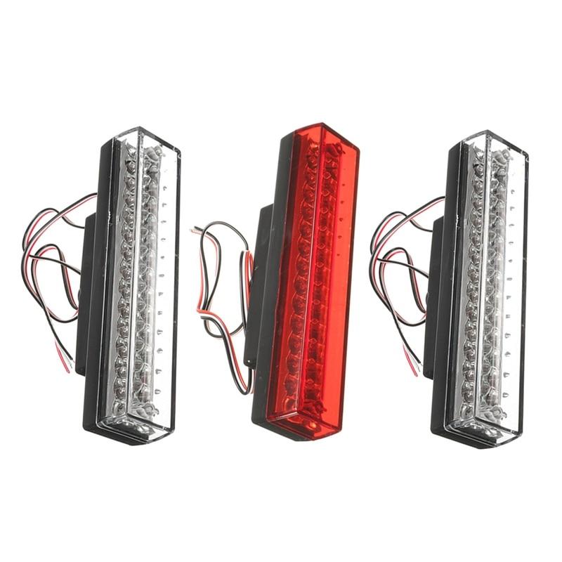 Машина горячей ЦВРСС 12V Универсальный 26 светодиодов тормоза предупреждение Строб лампы красный /синий / белый Водонепроницаемый